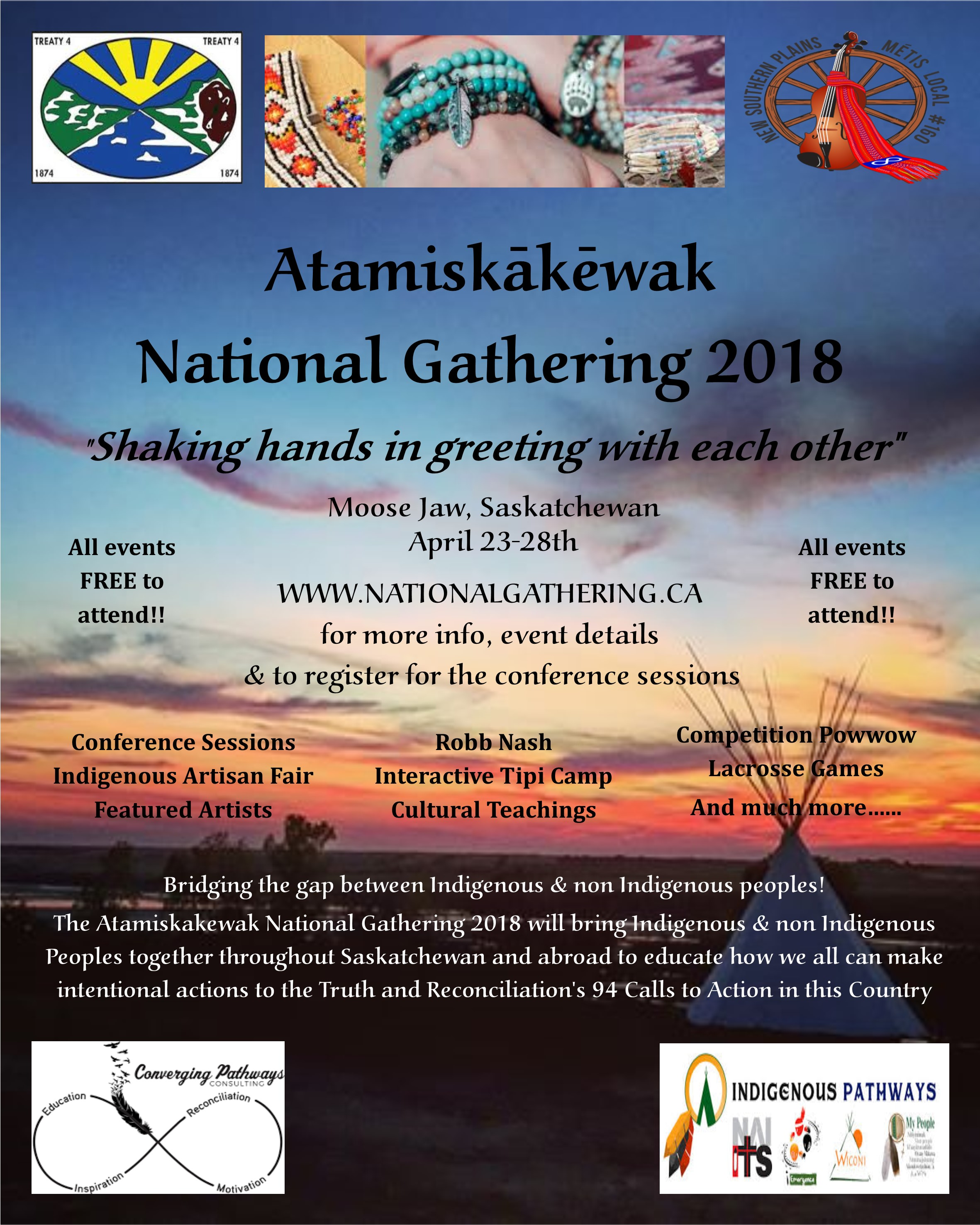 National gathering   11x14 poster
